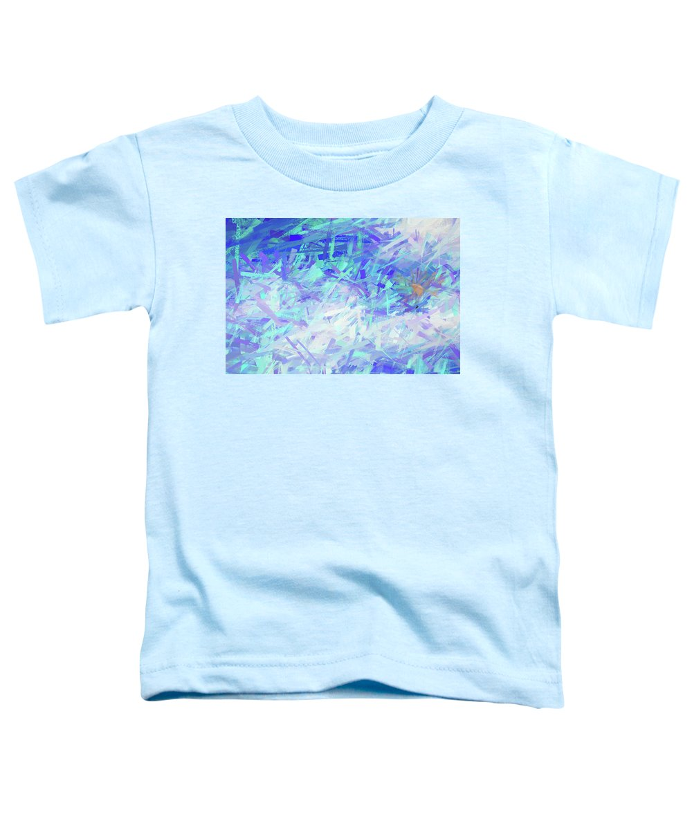 Adventure Toddler T-Shirt featuring the mixed media Cloud Rider Abstract by Peter Tellone