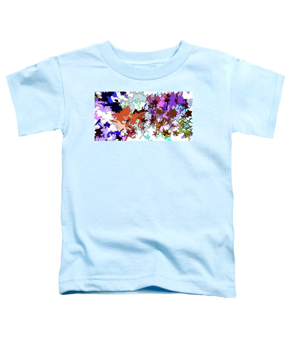 Abstract Toddler T-Shirt featuring the digital art Fluttering Vista by Linda Mears