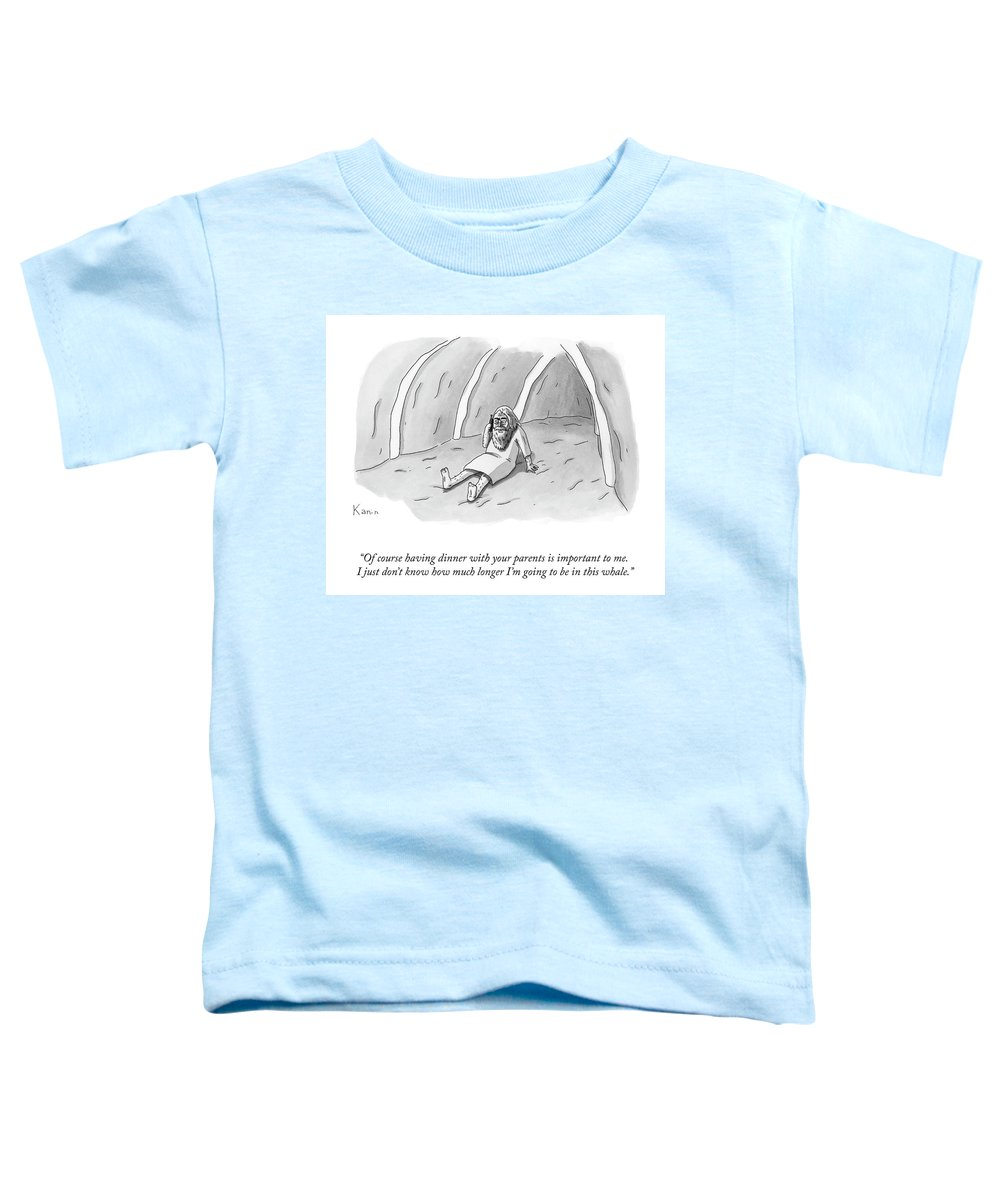 """of Course Having Dinner With Your Parents Is Important To Me Toddler T-Shirt featuring the drawing Having Dinner With Your Parents by Zachary Kanin"