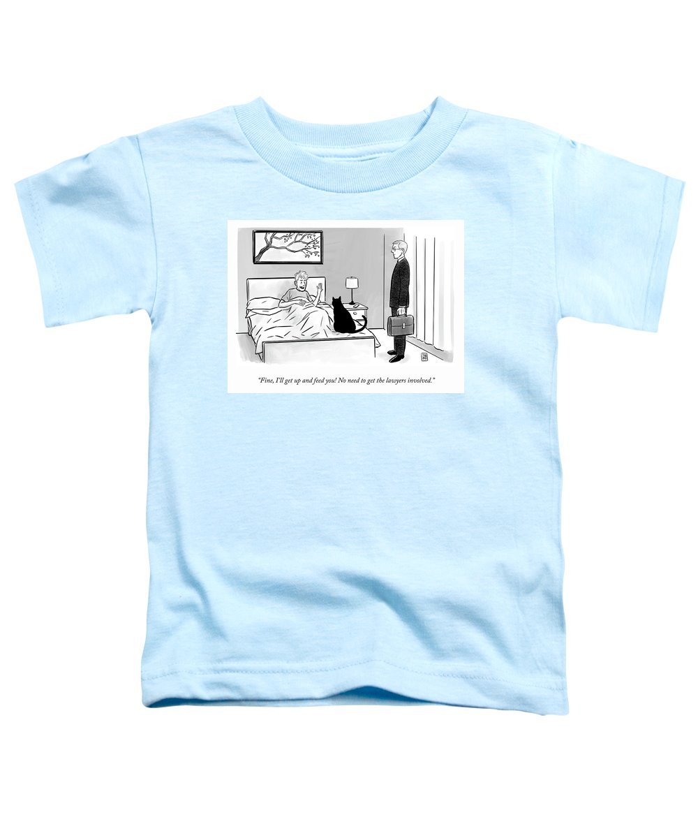"""""""fine Toddler T-Shirt featuring the drawing No Need to Get the Lawyers Involved by Pia Guerra and Ian Boothby"""