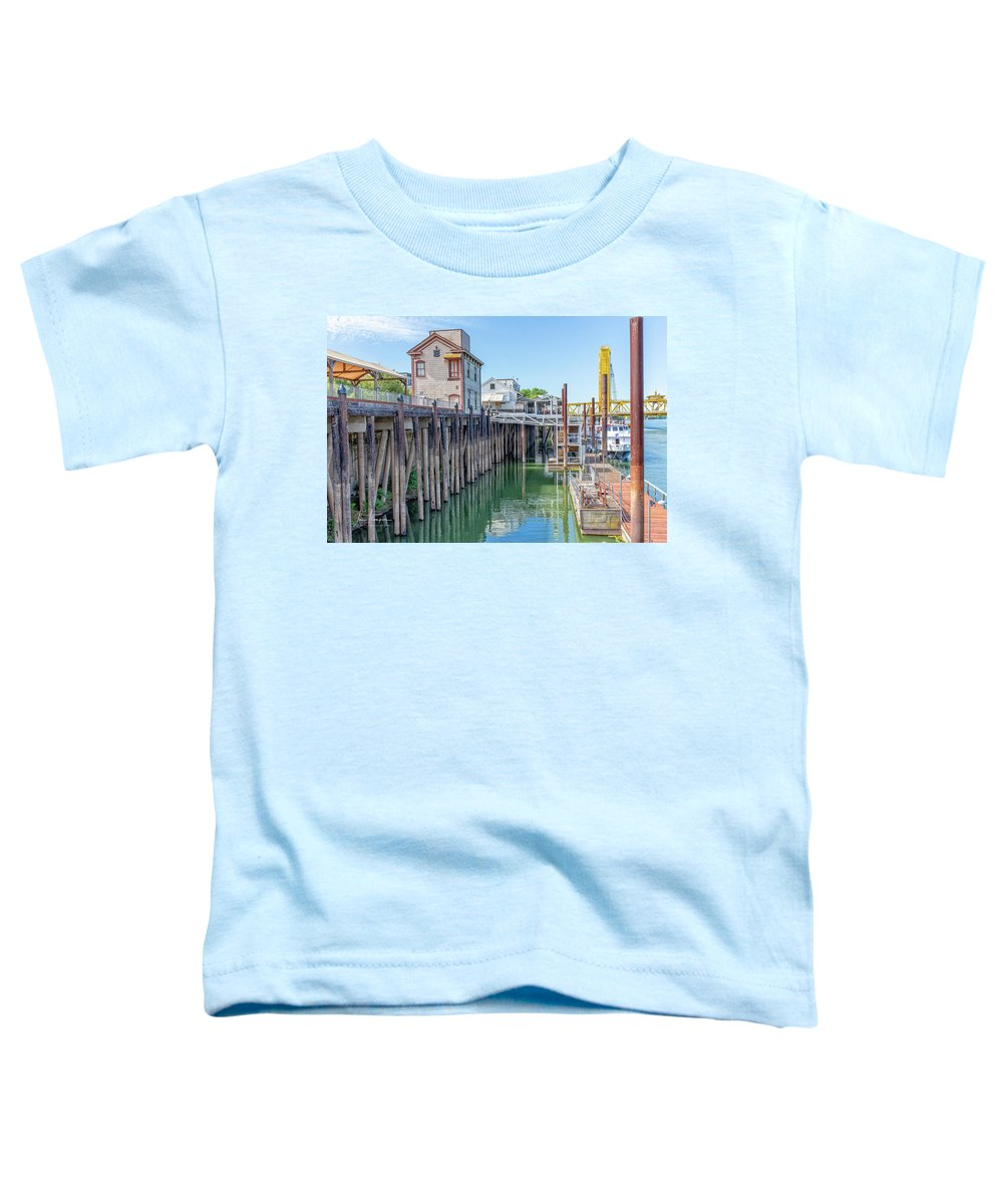 Old Town Sacramento Toddler T-Shirt featuring the photograph Old Sacramento Waterfront by Jim Thompson
