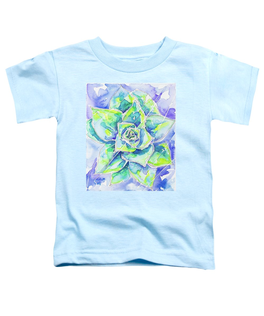 Succulent Toddler T-Shirt featuring the mixed media Refreshed by Tracie Loux