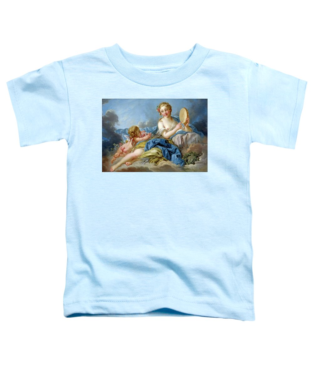 Boucher François Toddler T-Shirt featuring the painting Terpischore the muse of choir and dance by Boucher Francois