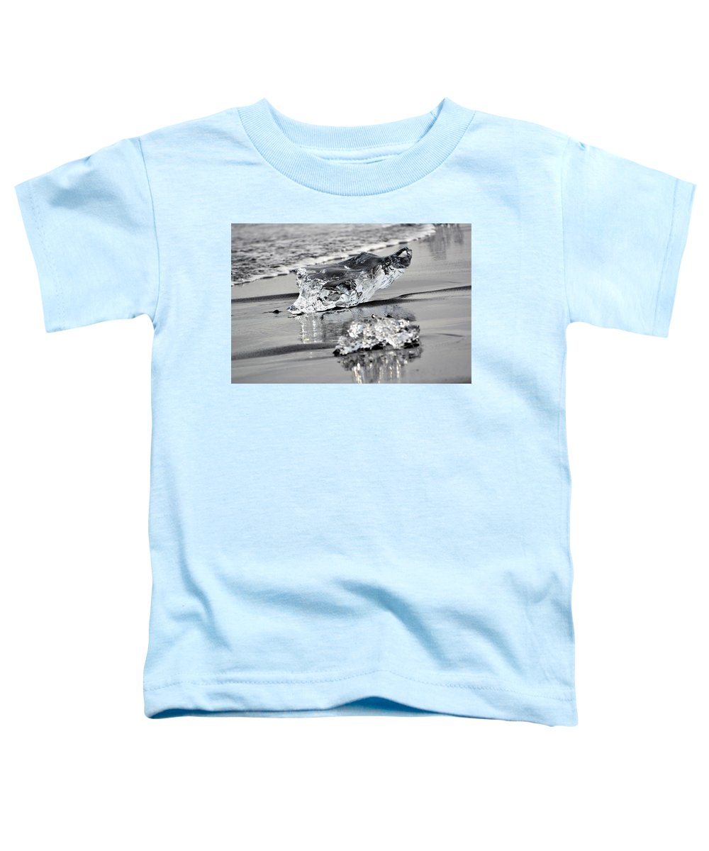 Ice Toddler T-Shirt featuring the photograph Two Ice Blocks by Norman Burnham
