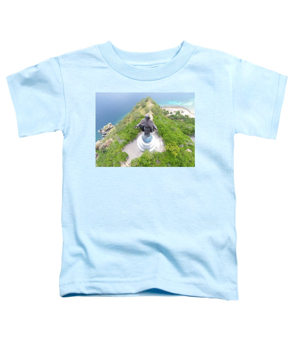 Travel Toddler T-Shirt featuring the photograph Cristo Rei of Dili statue of Jesus by Brthrjhn2099
