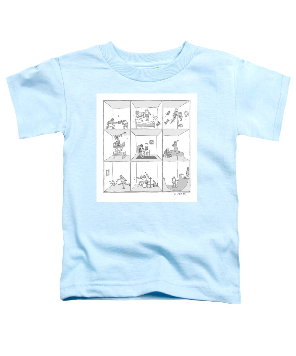 Captionless Toddler T-Shirt featuring the drawing Cross Section by Tom Colin