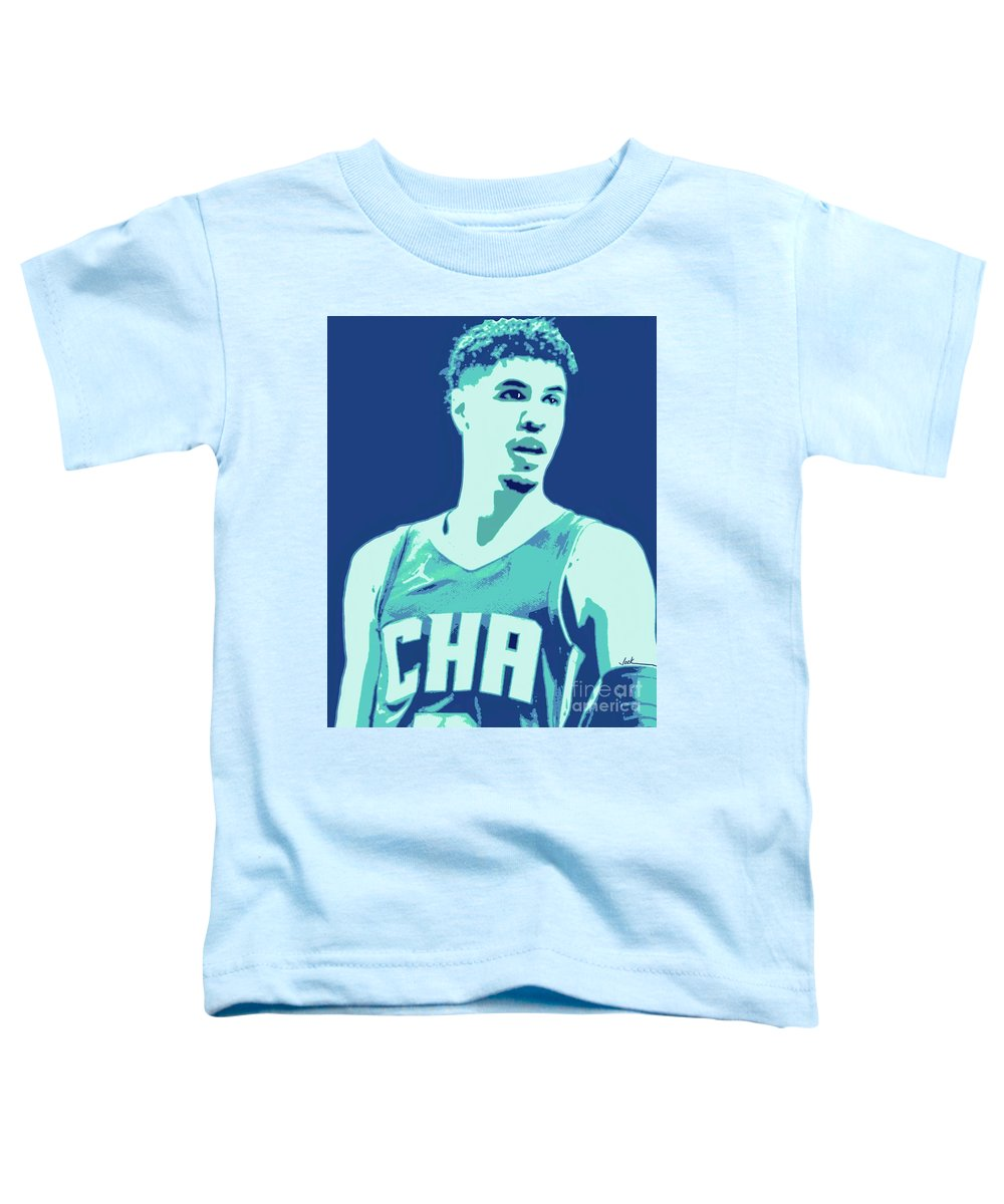 Lamelo Toddler T-Shirt featuring the painting LaMelo Ball by Jack Bunds