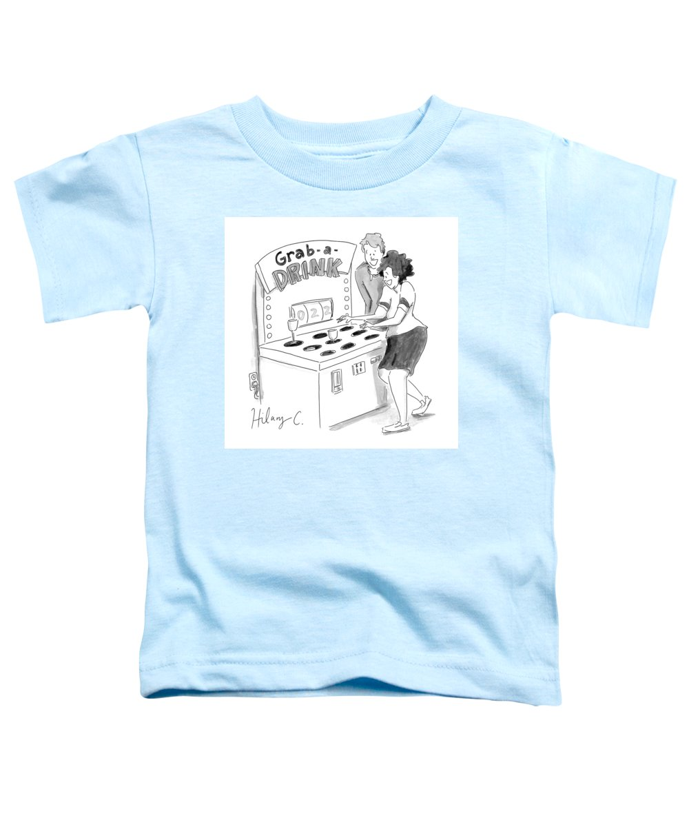 Captionless Toddler T-Shirt featuring the drawing New Yorker June 3, 2021 by Hilary Fitzgerald Campbell
