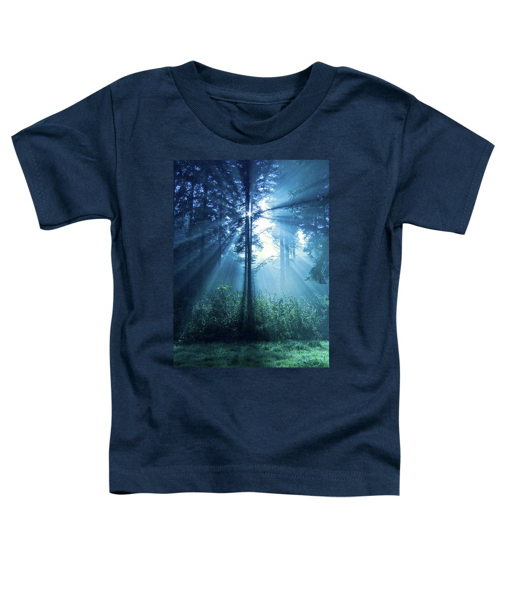 Nature Toddler T-Shirt featuring the photograph Magical Light by Daniel Csoka