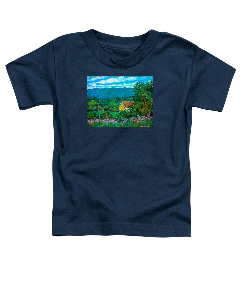 Landscape Toddler T-Shirt featuring the painting 460 by Kendall Kessler