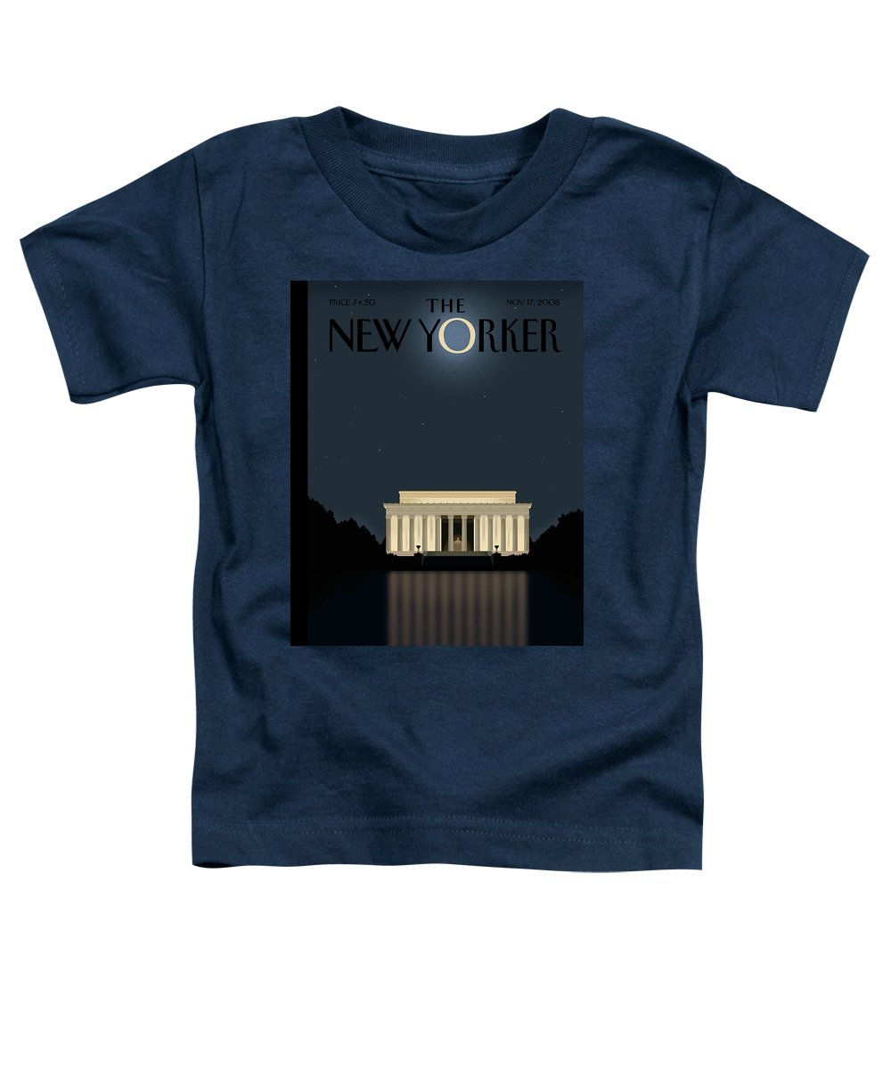 Lincoln Toddler T-Shirt featuring the painting New Yorker November 17th, 2008 by Bob Staake