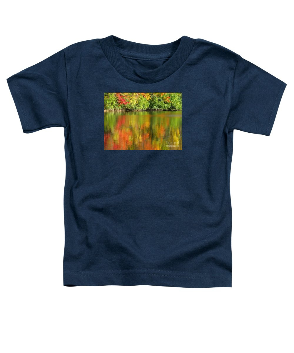 Autumn Toddler T-Shirt featuring the photograph Autumn Brilliance by Ann Horn