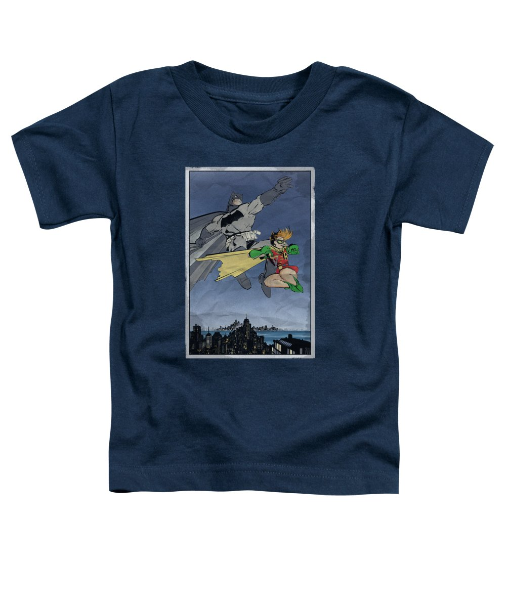 Batman Toddler T-Shirt featuring the digital art Batman - Dkr Duo by Brand A