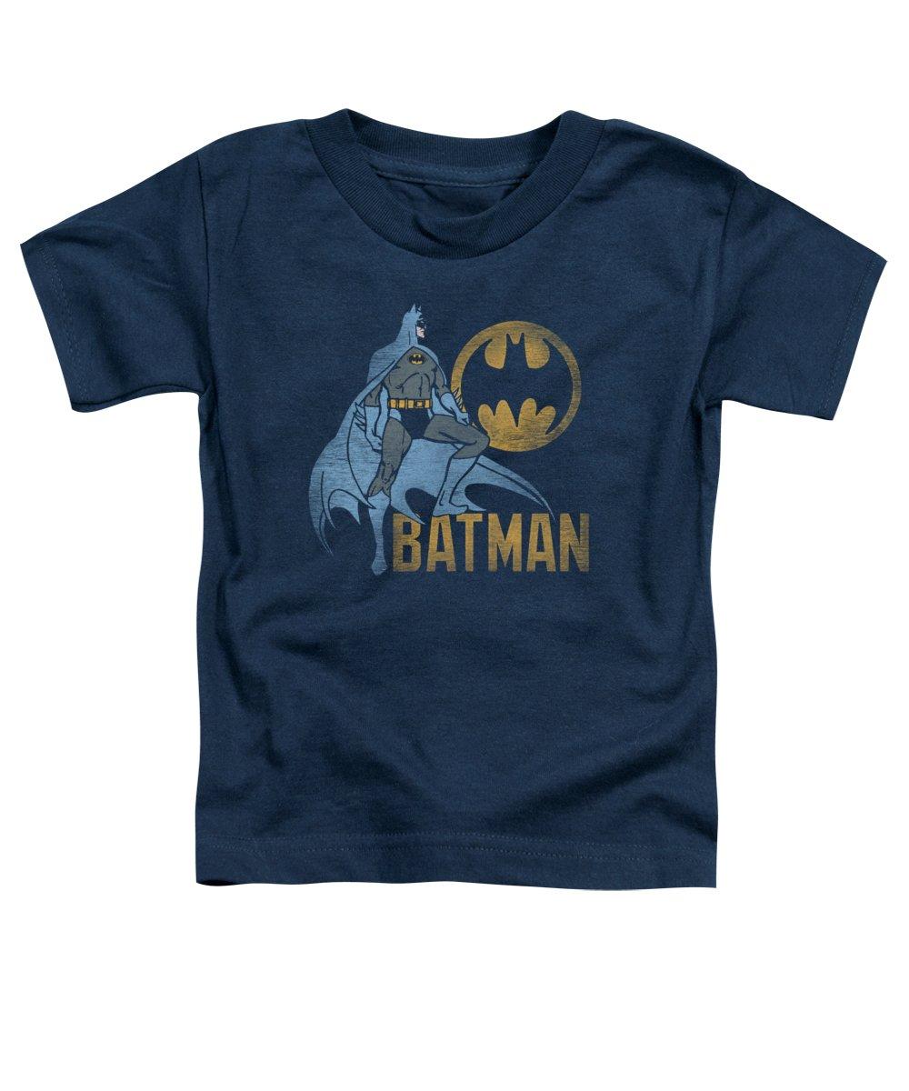 Batman Toddler T-Shirt featuring the digital art Batman - Knight Watch by Brand A