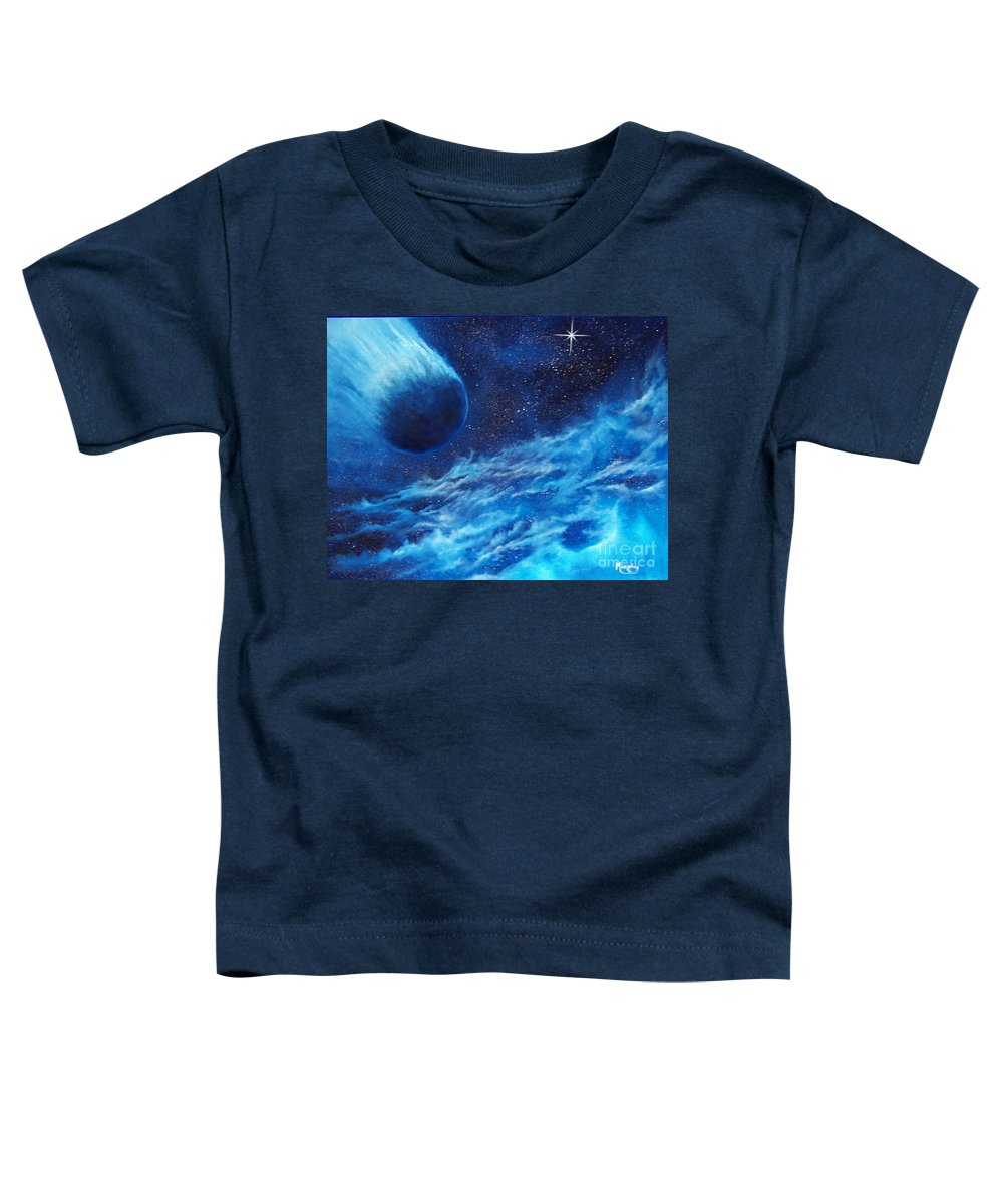 Astro Toddler T-Shirt featuring the painting Comet Experience by Murphy Elliott