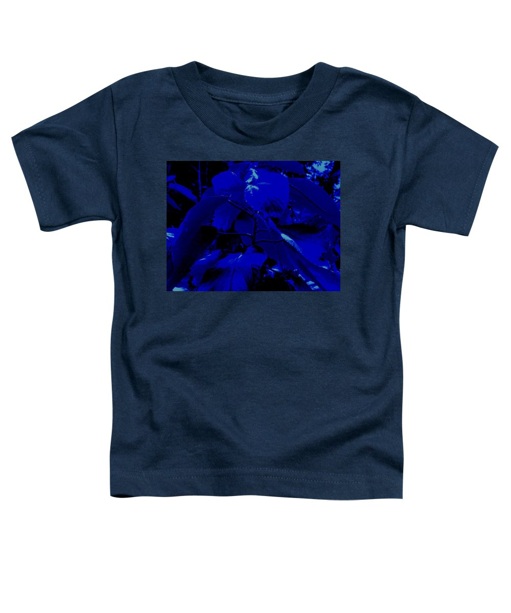Leaves Toddler T-Shirt featuring the photograph Dark Blue Leaves by Ian MacDonald