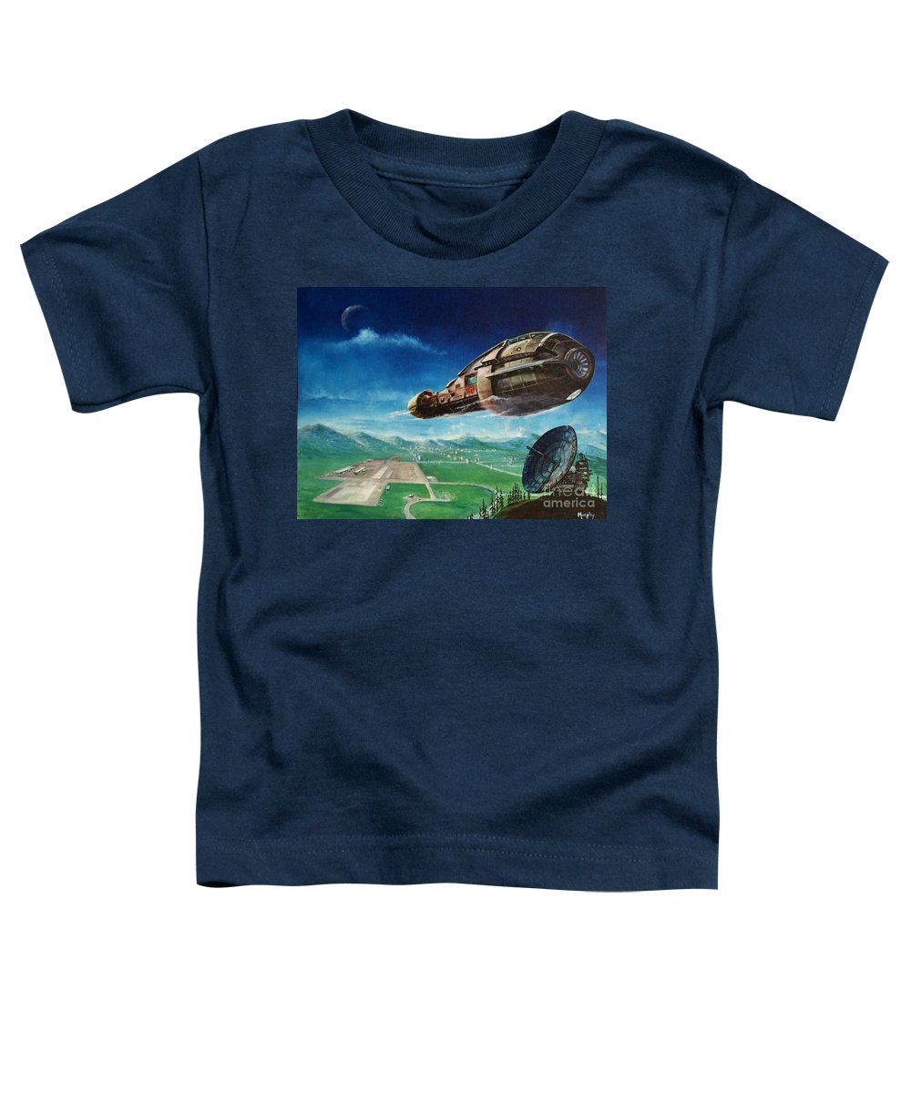 Landscape Toddler T-Shirt featuring the painting Did You Call by Murphy Elliott