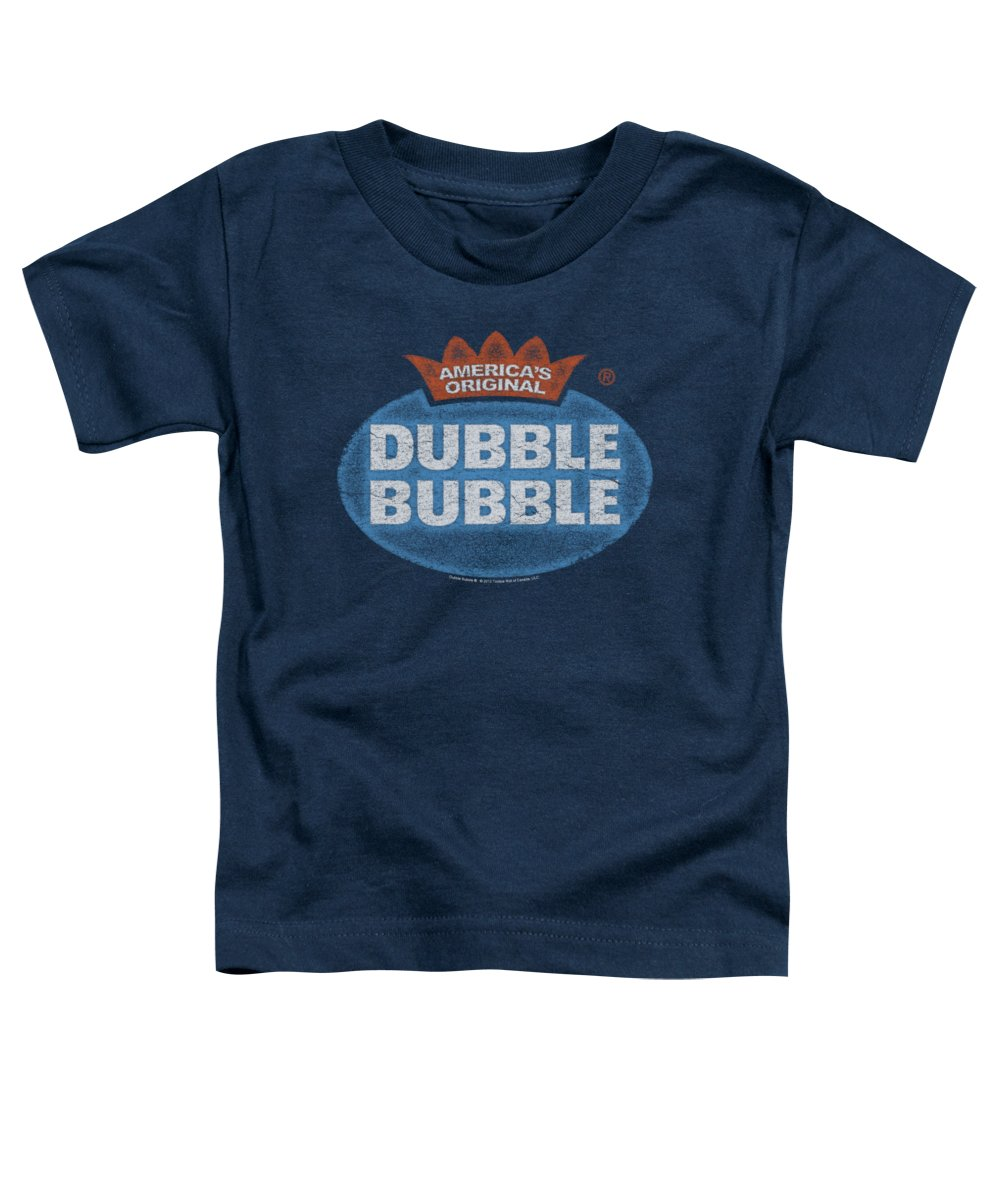 Dubble Bubble Toddler T-Shirt featuring the digital art Dubble Bubble - Vintage Logo by Brand A