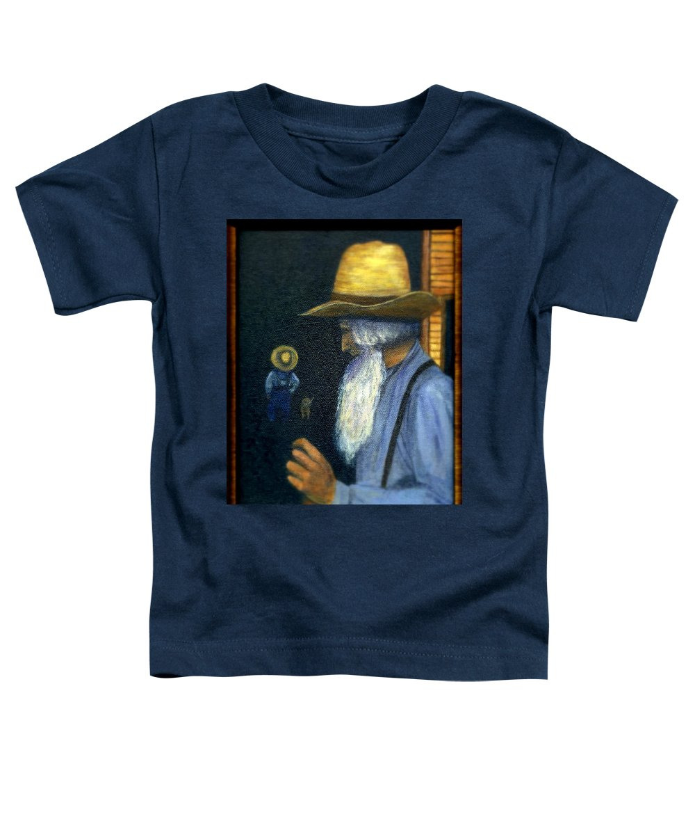 Men Toddler T-Shirt featuring the painting Eli Remembers by Gail Kirtz