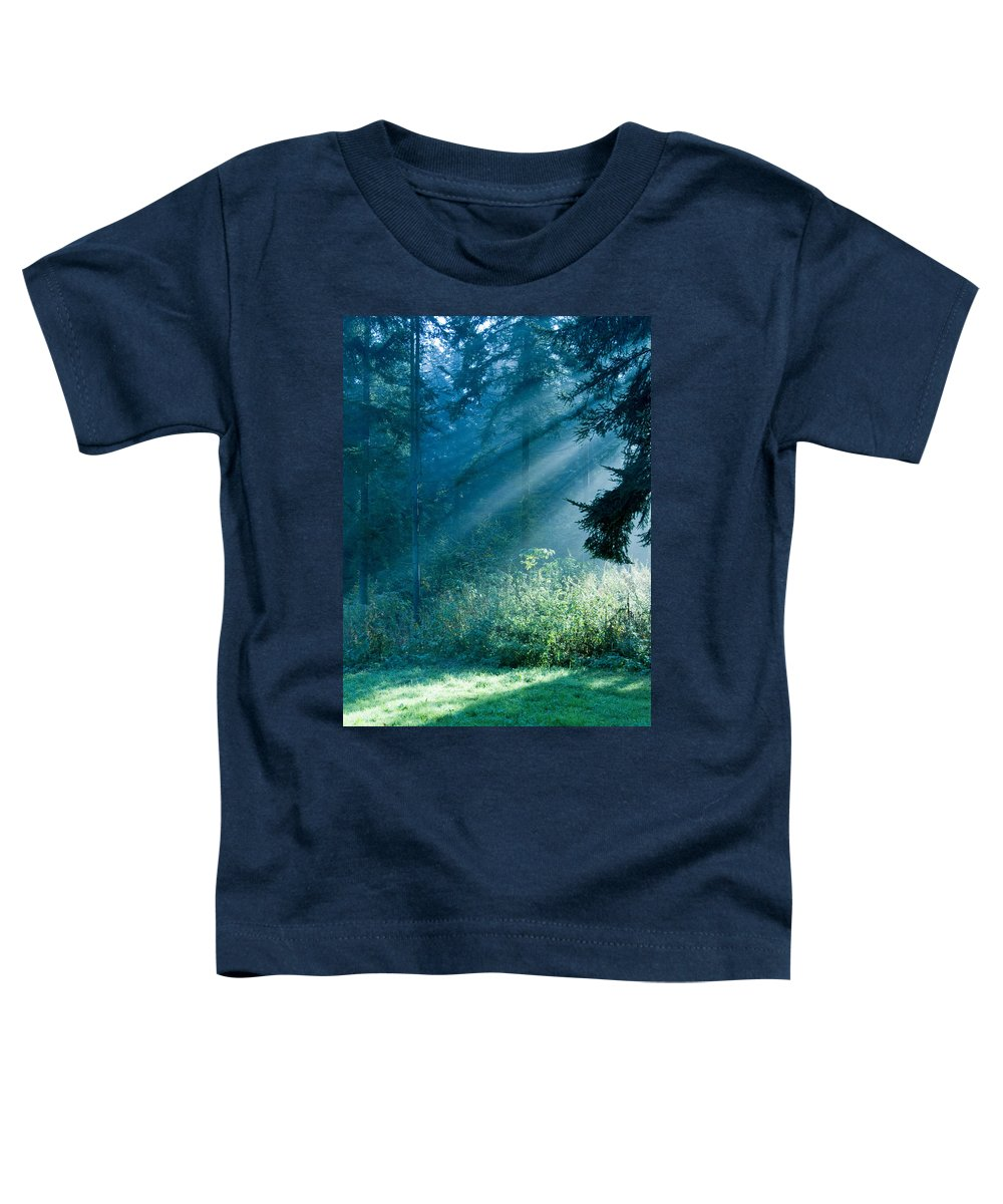 Nature Toddler T-Shirt featuring the photograph Elven Forest by Daniel Csoka