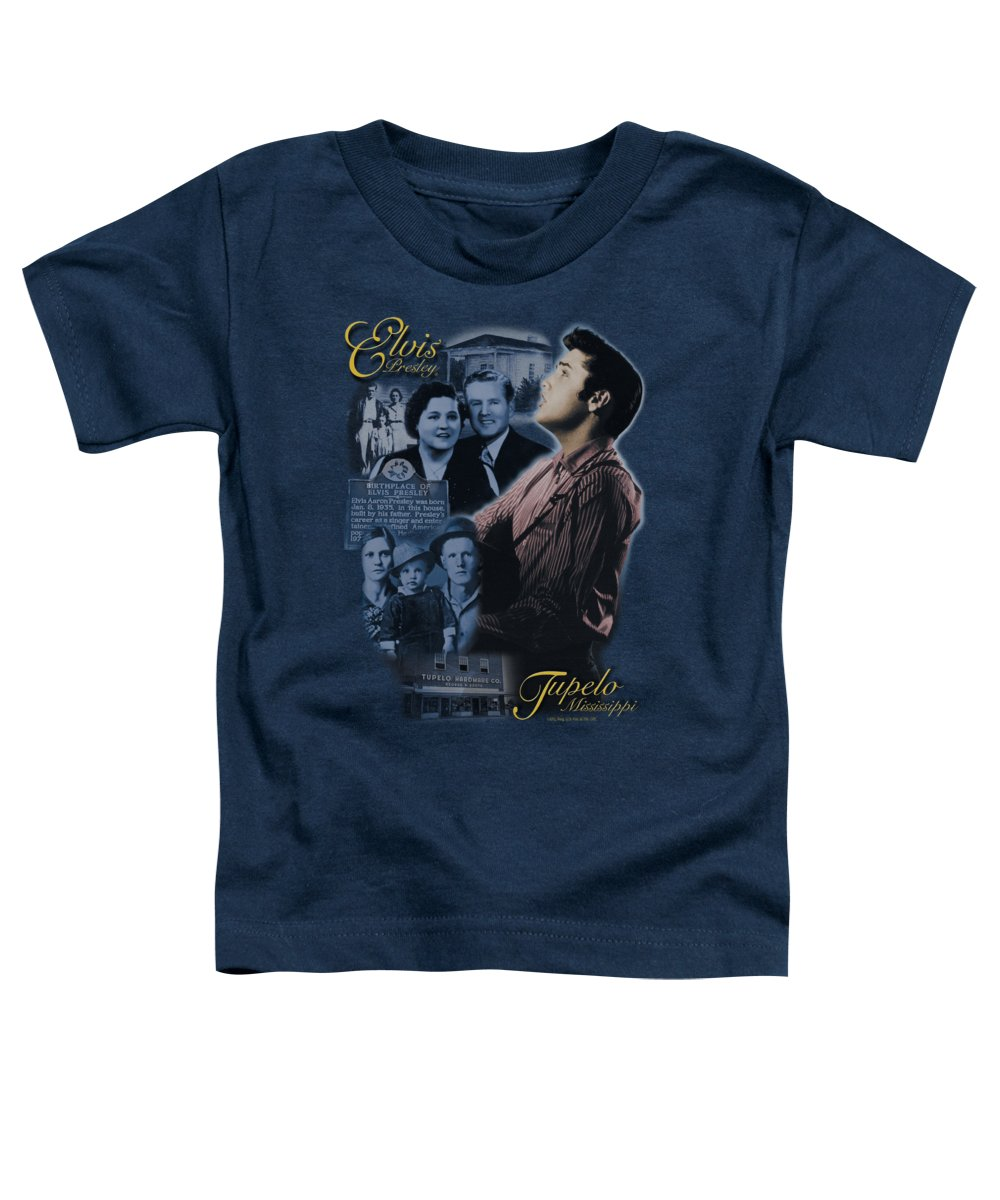 Elvis Toddler T-Shirt featuring the digital art Elvis - Tupelo by Brand A