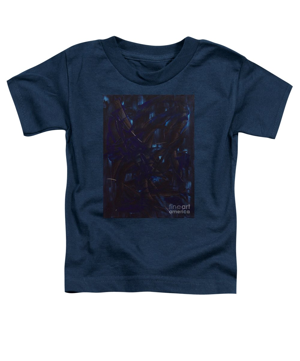 Abstract Toddler T-Shirt featuring the painting Expectations Blue by Dean Triolo