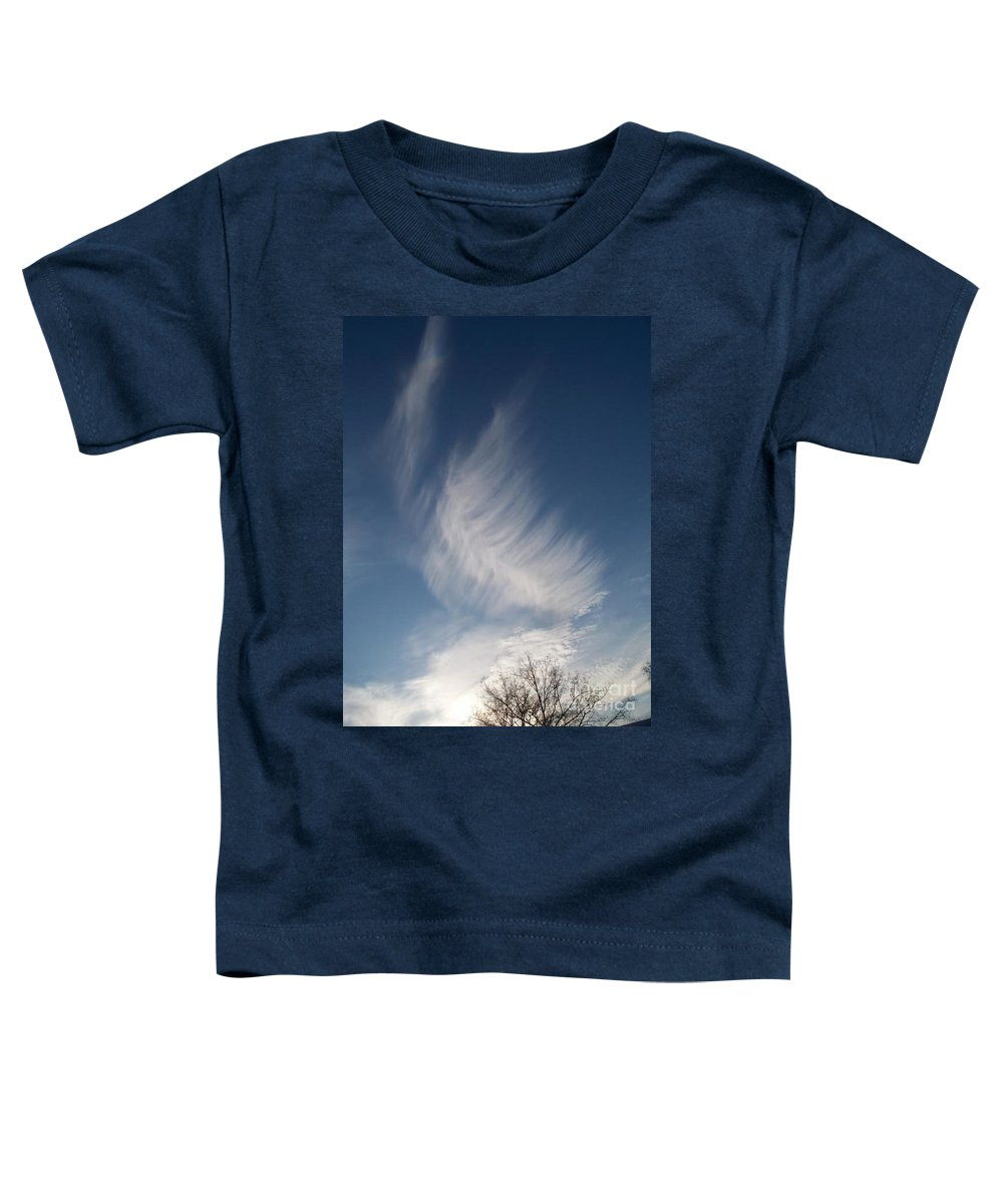 Angel Toddler T-Shirt featuring the photograph Feather Cloud By Diane Schiabor by Eric Schiabor