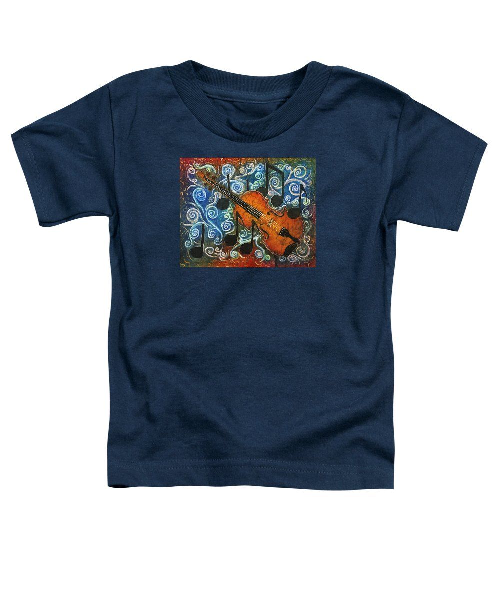 Fiddle Toddler T-Shirt featuring the painting Fiddle 1 by Sue Duda