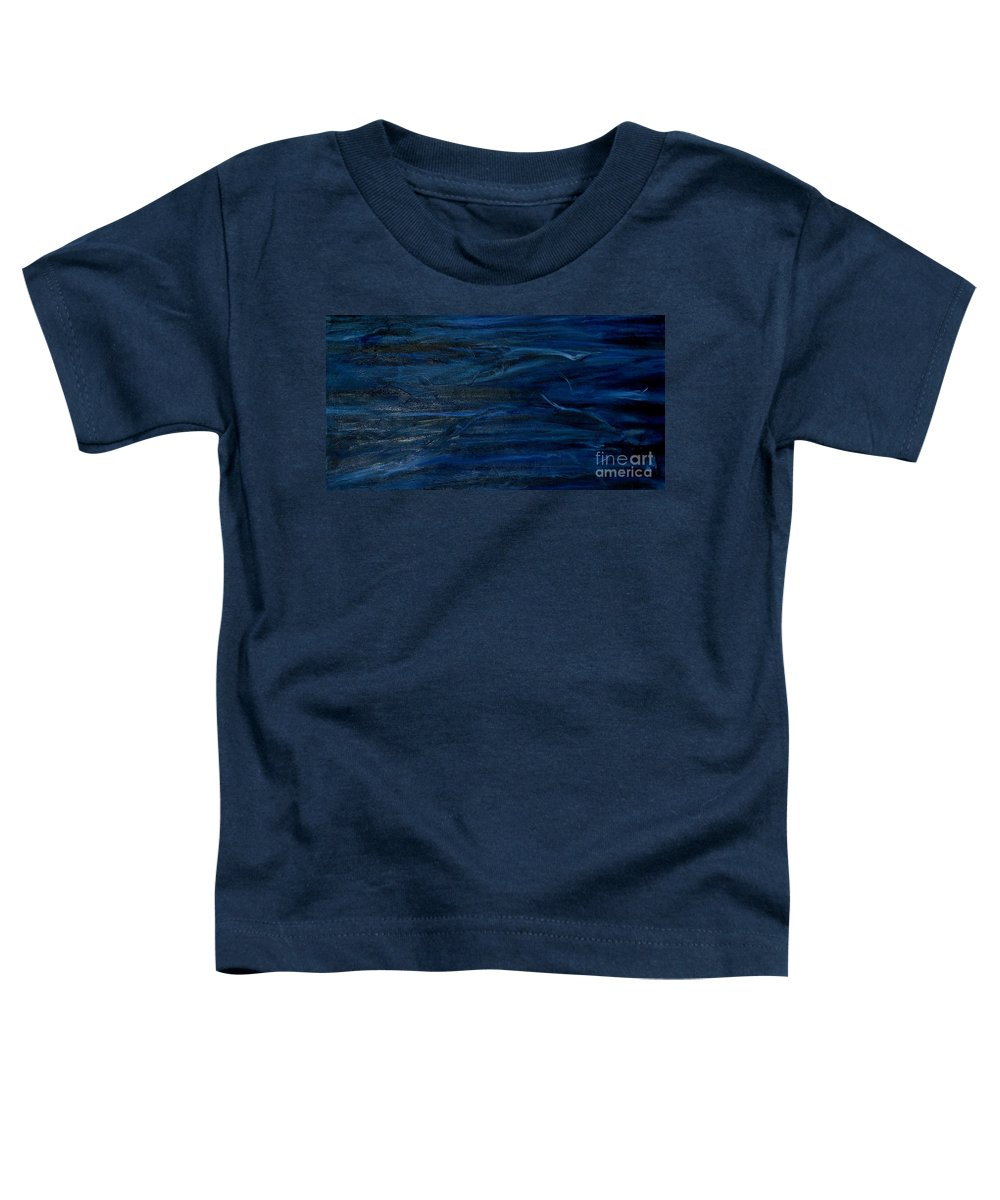 Modern Art Toddler T-Shirt featuring the painting Immense Blue by Silvana Abel