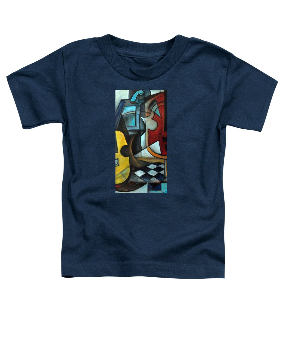 Abstract Toddler T-Shirt featuring the painting La Musique 1 by Valerie Vescovi