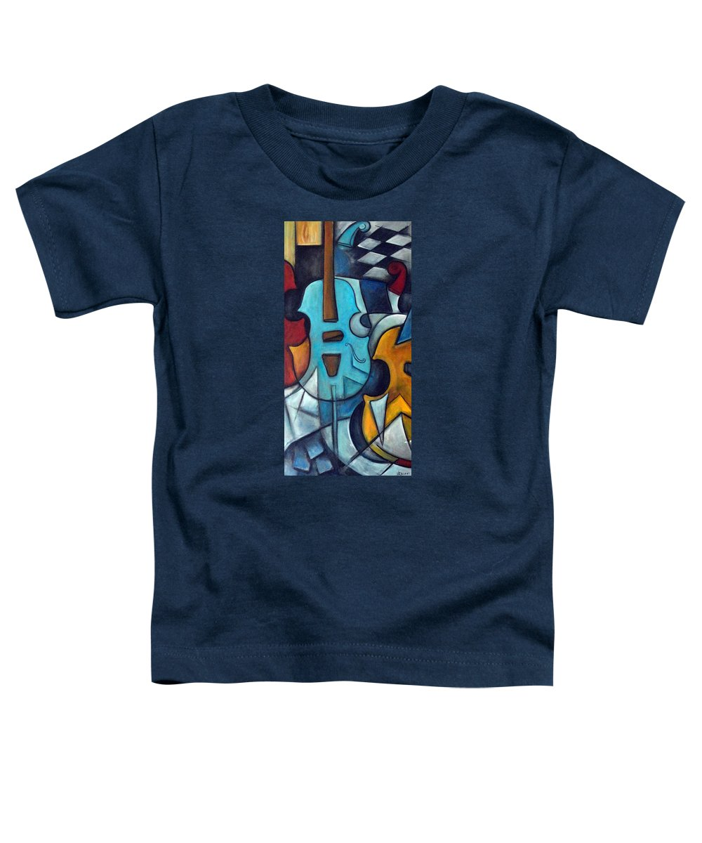 Music Toddler T-Shirt featuring the painting La Musique 2 by Valerie Vescovi