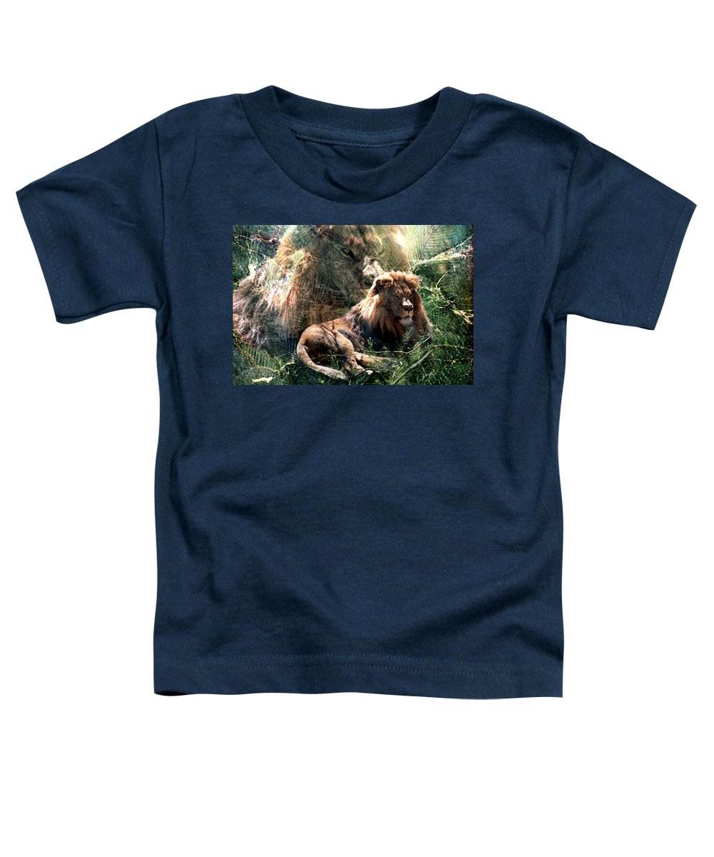 Lion Toddler T-Shirt featuring the digital art Lion Spirit by Lisa Yount
