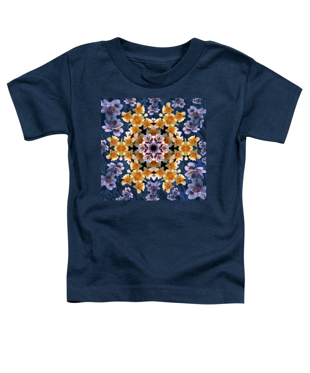 Mandala Toddler T-Shirt featuring the digital art Mandala Alstro by Nancy Griswold