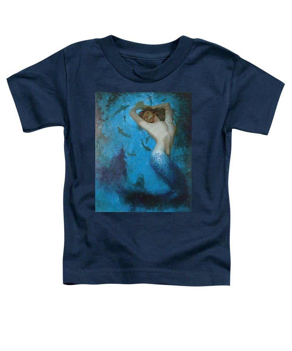 Ignatenko Toddler T-Shirt featuring the painting Mermaid by Sergey Ignatenko