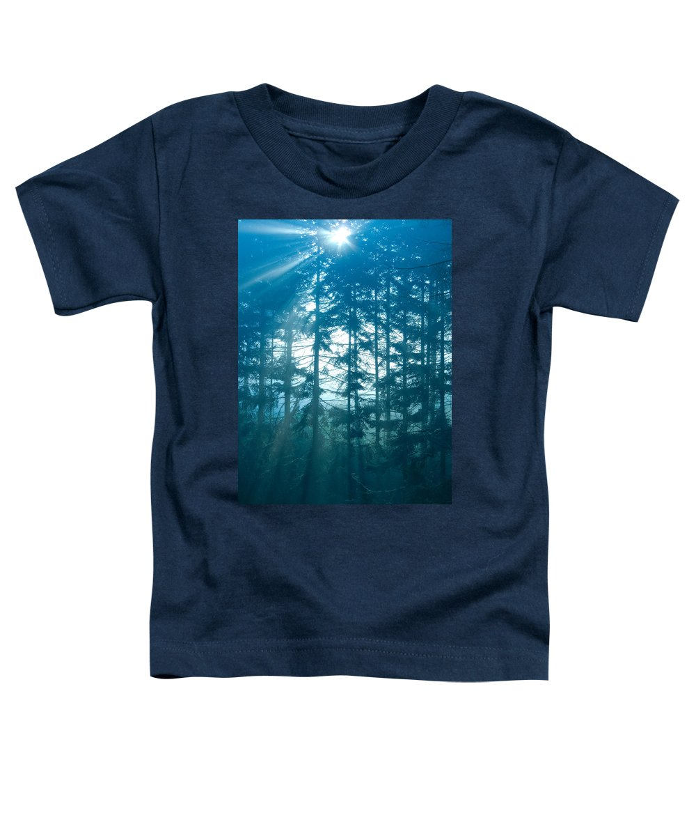 Nature Toddler T-Shirt featuring the photograph Mystic Light by Daniel Csoka
