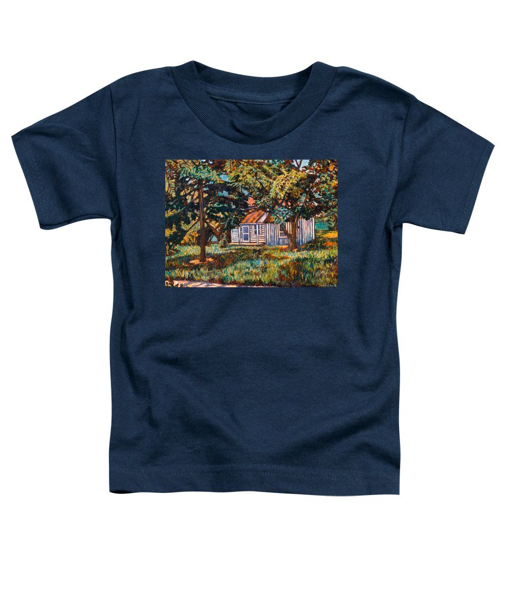 Architecture Toddler T-Shirt featuring the painting Near The Tech Duck Pond by Kendall Kessler