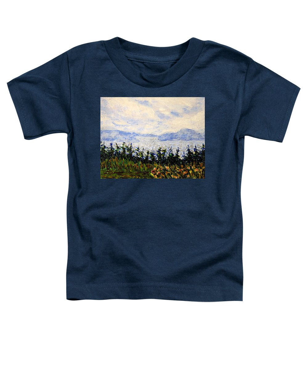 Newfoundland Toddler T-Shirt featuring the painting Newfoundland Up The West Coast by Ian MacDonald