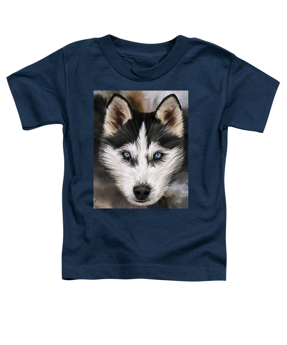 Dog Art Toddler T-Shirt featuring the painting Nikki by David Wagner