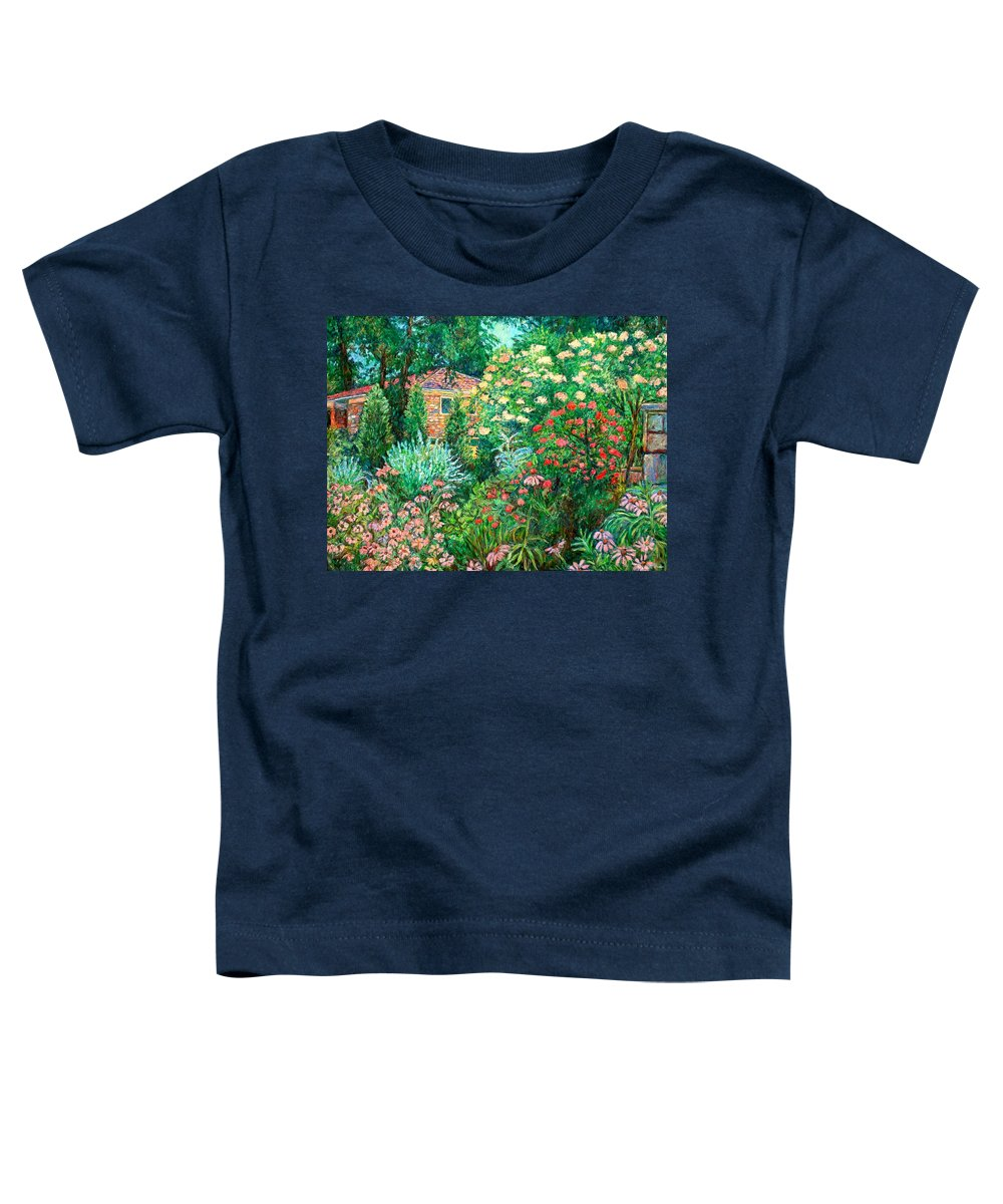 Garden Toddler T-Shirt featuring the painting North Albemarle In Mclean Va by Kendall Kessler