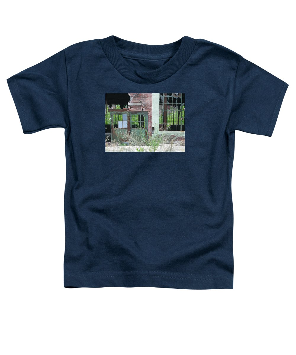 Factory Toddler T-Shirt featuring the photograph Obsolete by Ann Horn