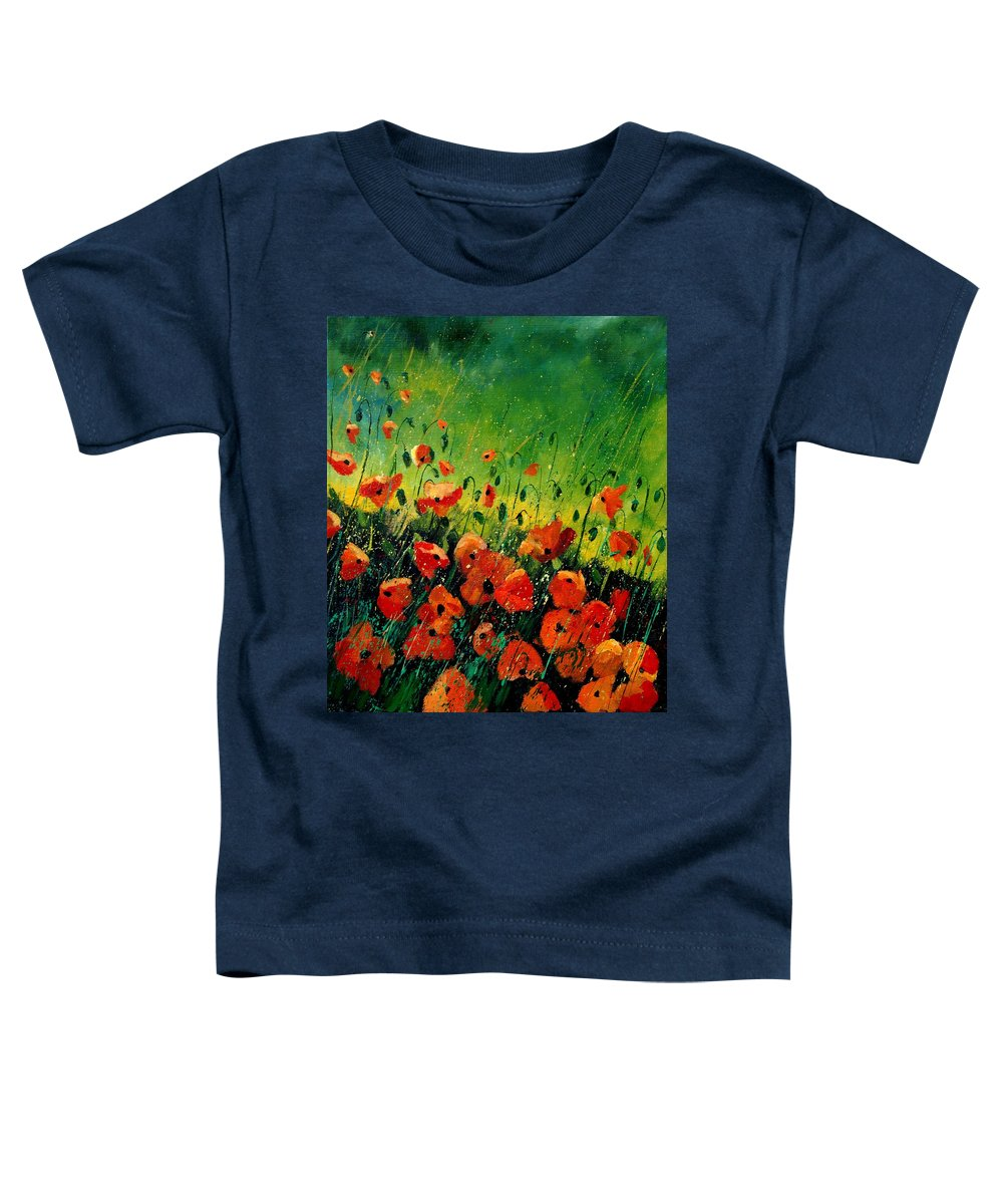 Poppies Toddler T-Shirt featuring the painting Orange Poppies by Pol Ledent