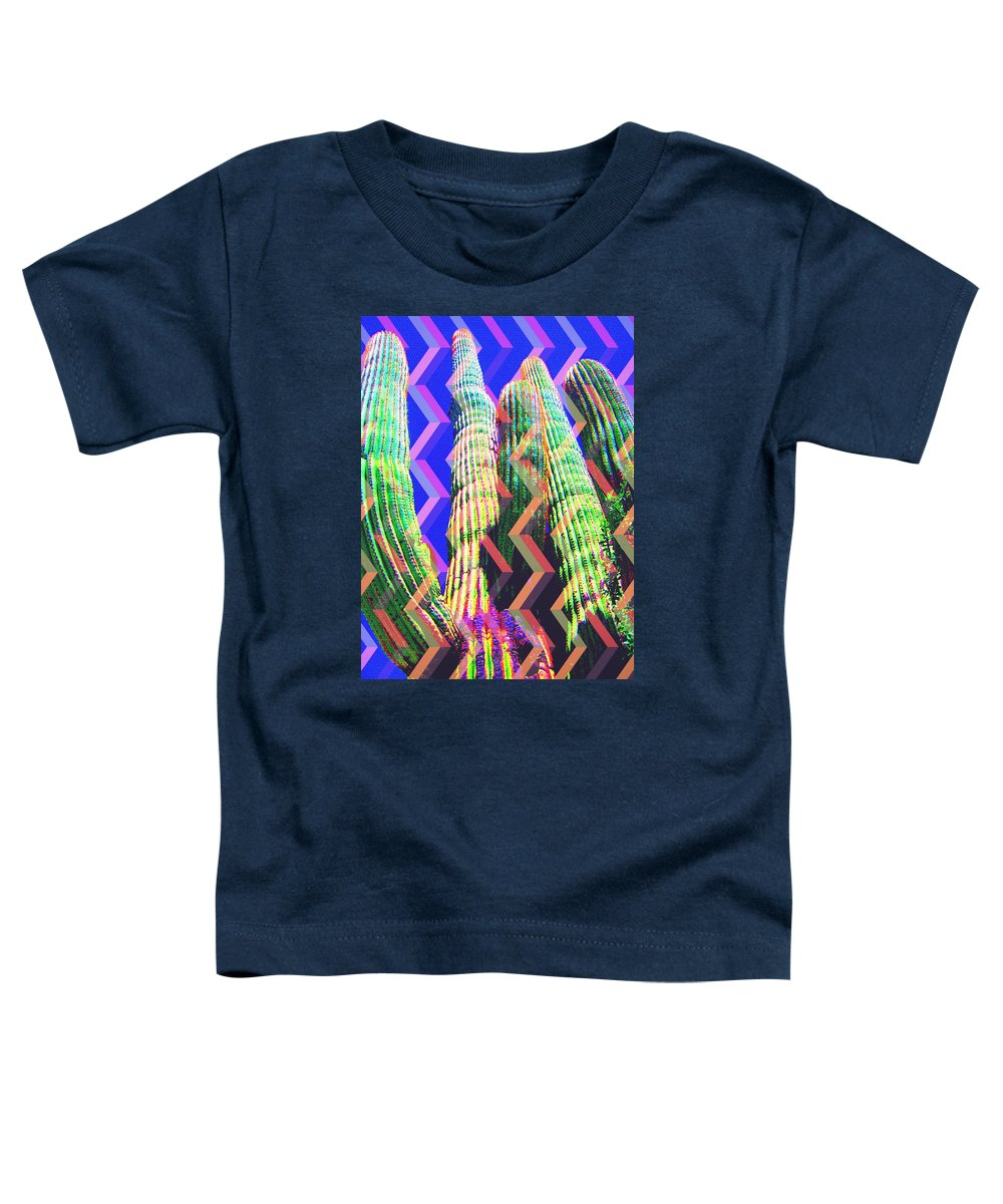Scottsdale Toddler T-Shirt featuring the mixed media Spirit Of The Saguaro by Michelle Dallocchio