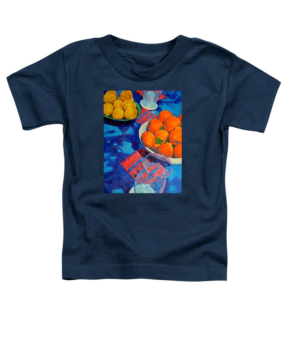 Still Life Toddler T-Shirt featuring the painting Still Life 2 by Iliyan Bozhanov