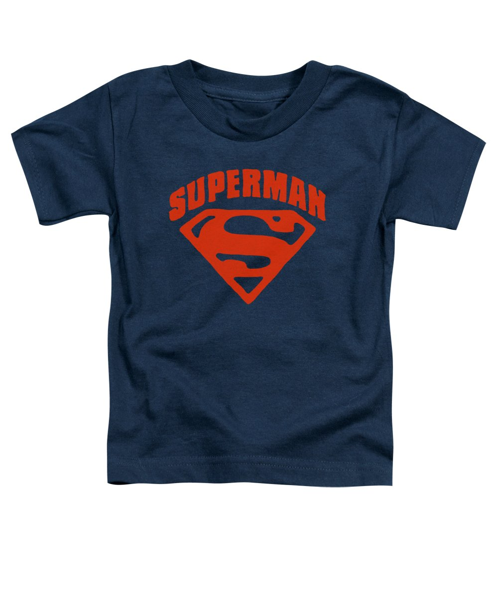 Superman Toddler T-Shirt featuring the digital art Superman - Super Shield by Brand A