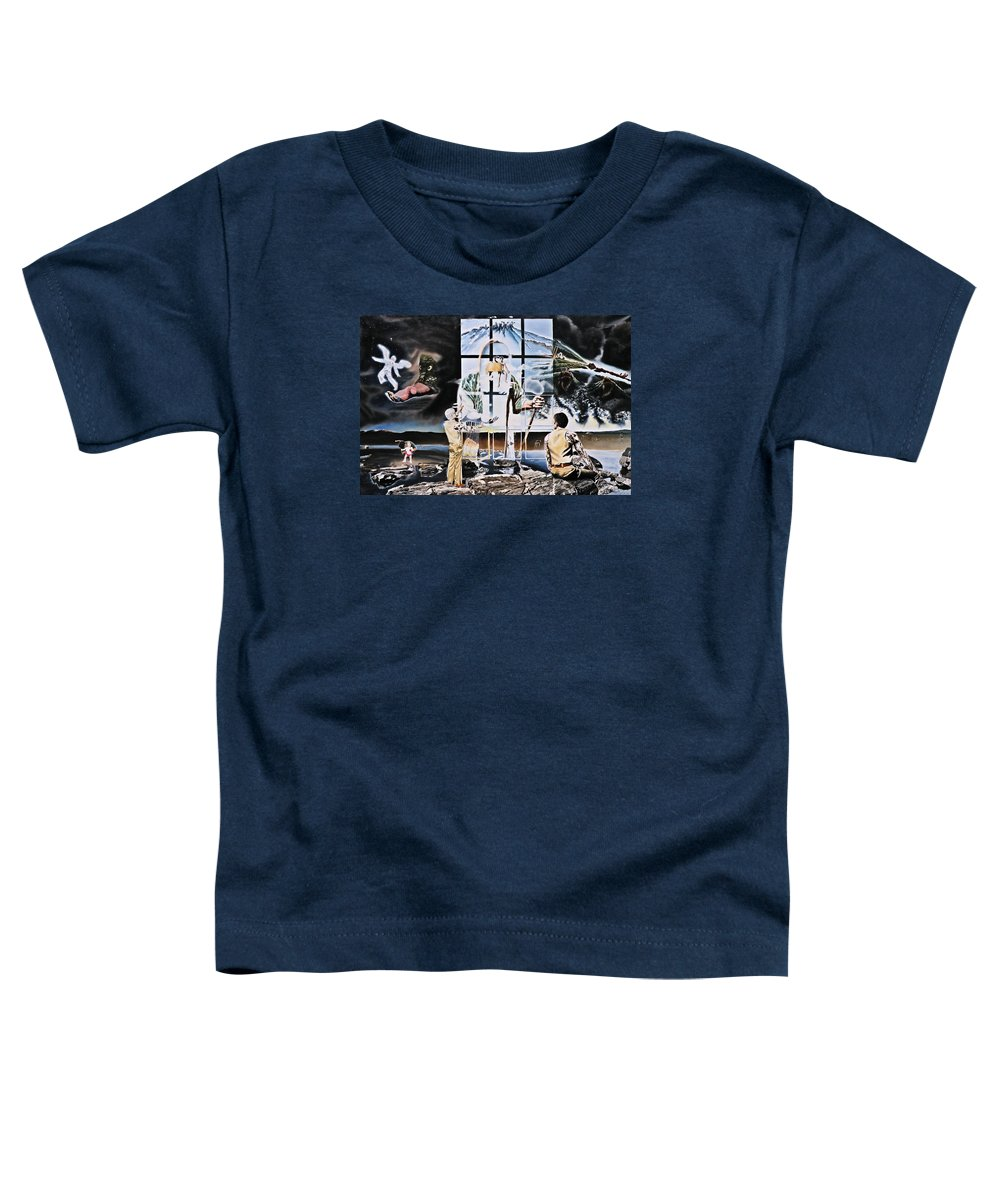 Surreal Toddler T-Shirt featuring the painting Surreal Windows Of Allegory by Dave Martsolf