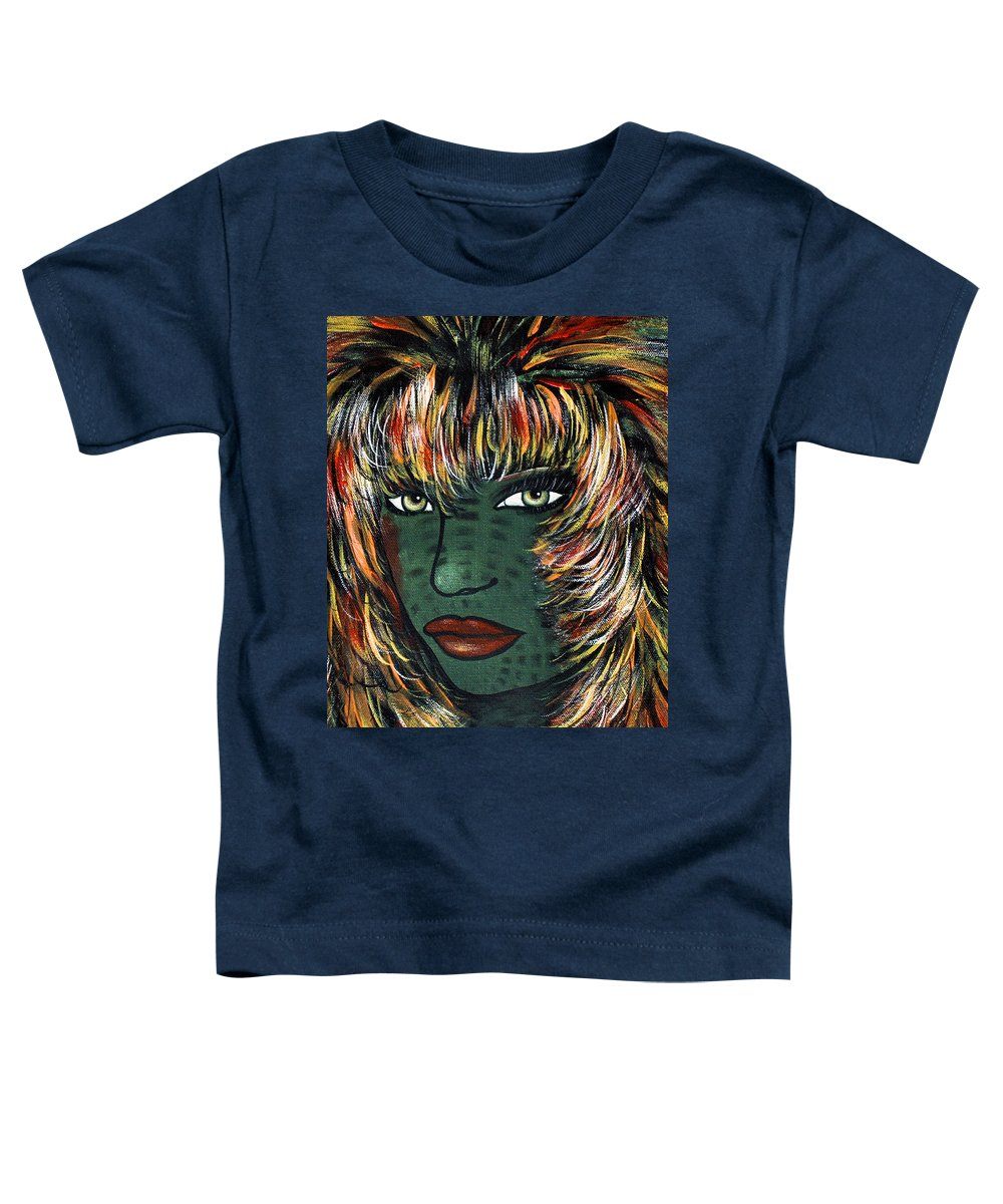 Woman Toddler T-Shirt featuring the painting Tattoo by Natalie Holland