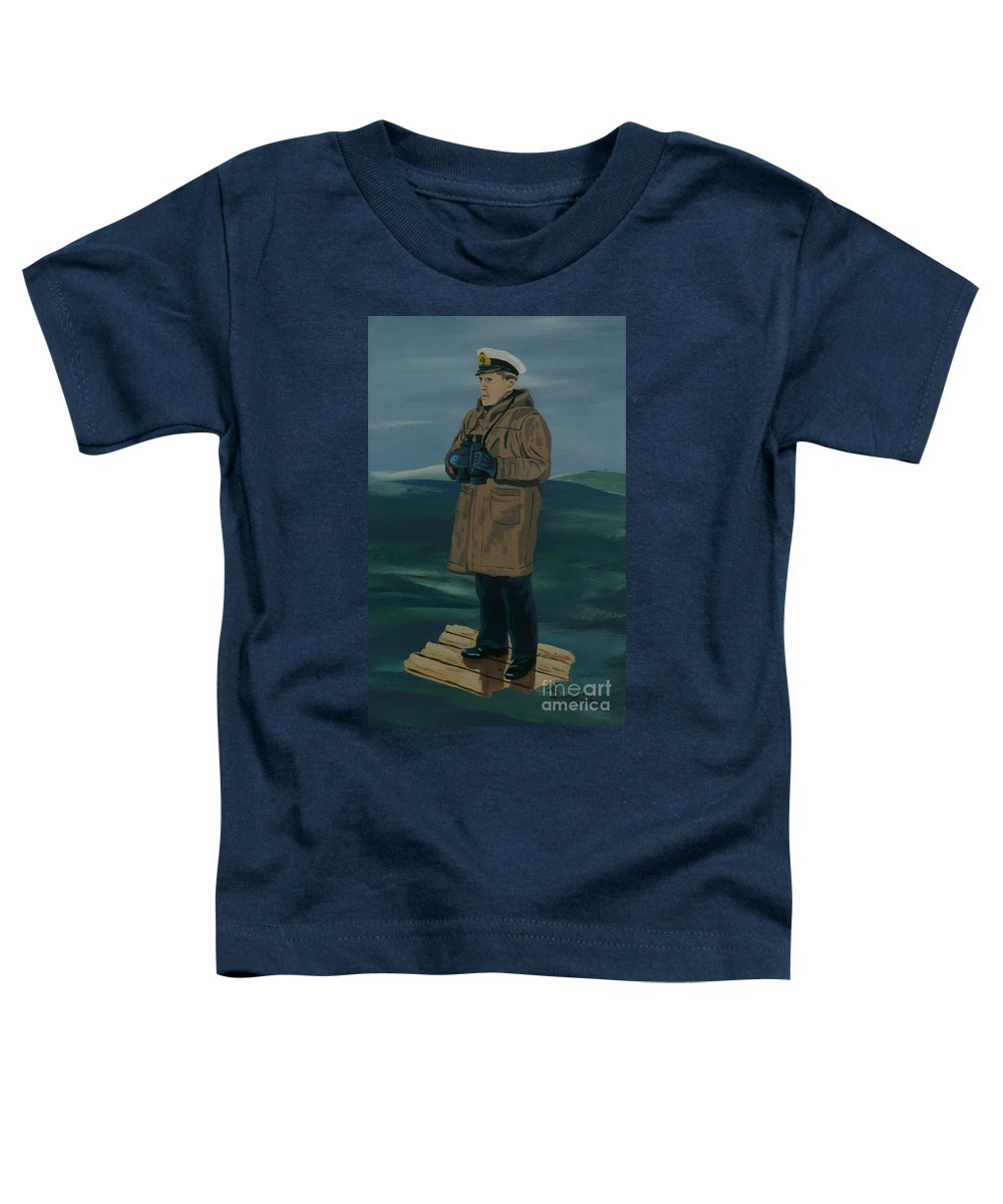 Captain Toddler T-Shirt featuring the painting The Captain by Anthony Dunphy