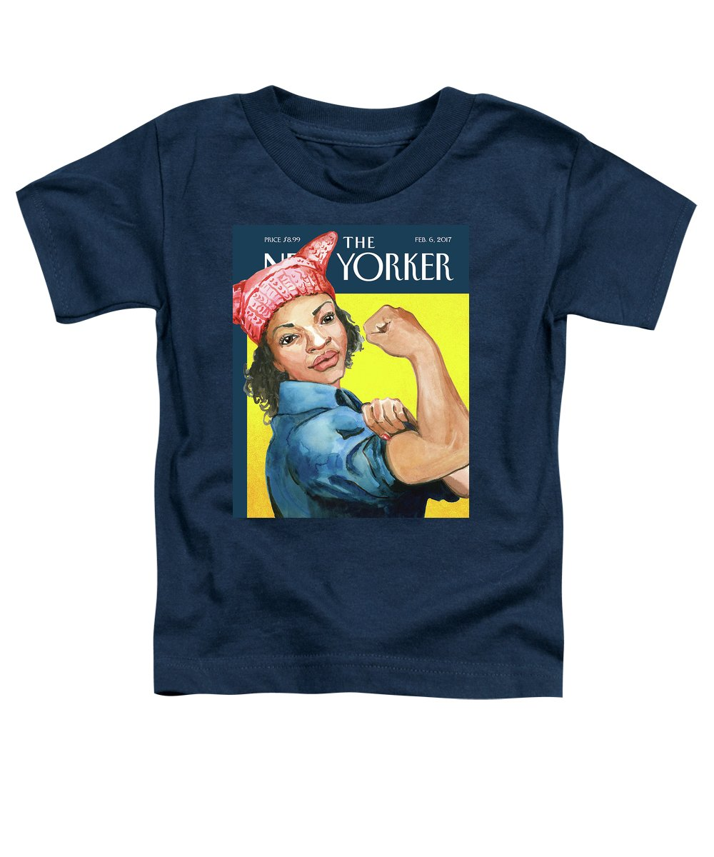 Pussy Hat Toddler T-Shirt featuring the painting The March by Abigail Gray Swartz