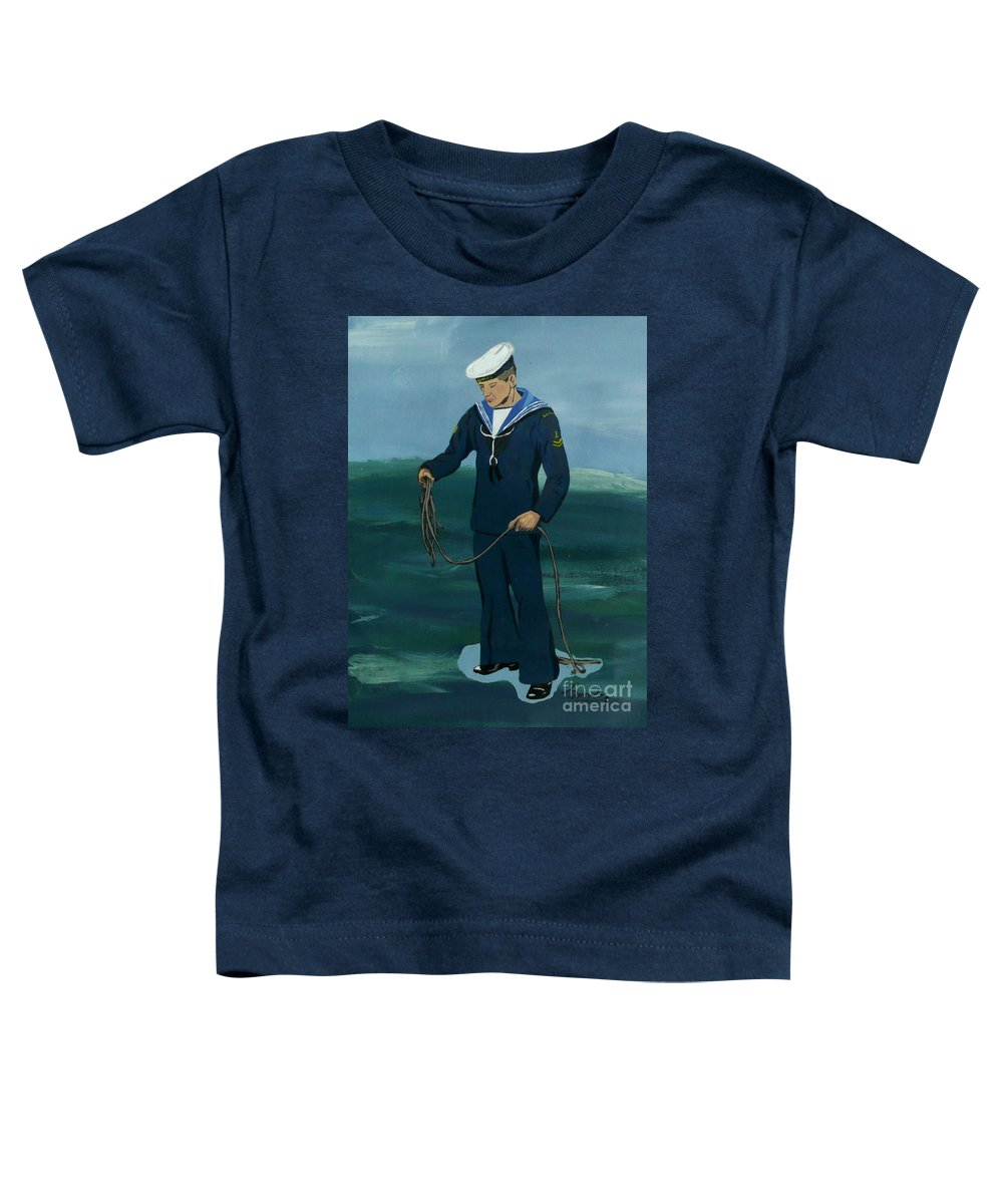 Sailor Toddler T-Shirt featuring the painting The Sailor by Anthony Dunphy