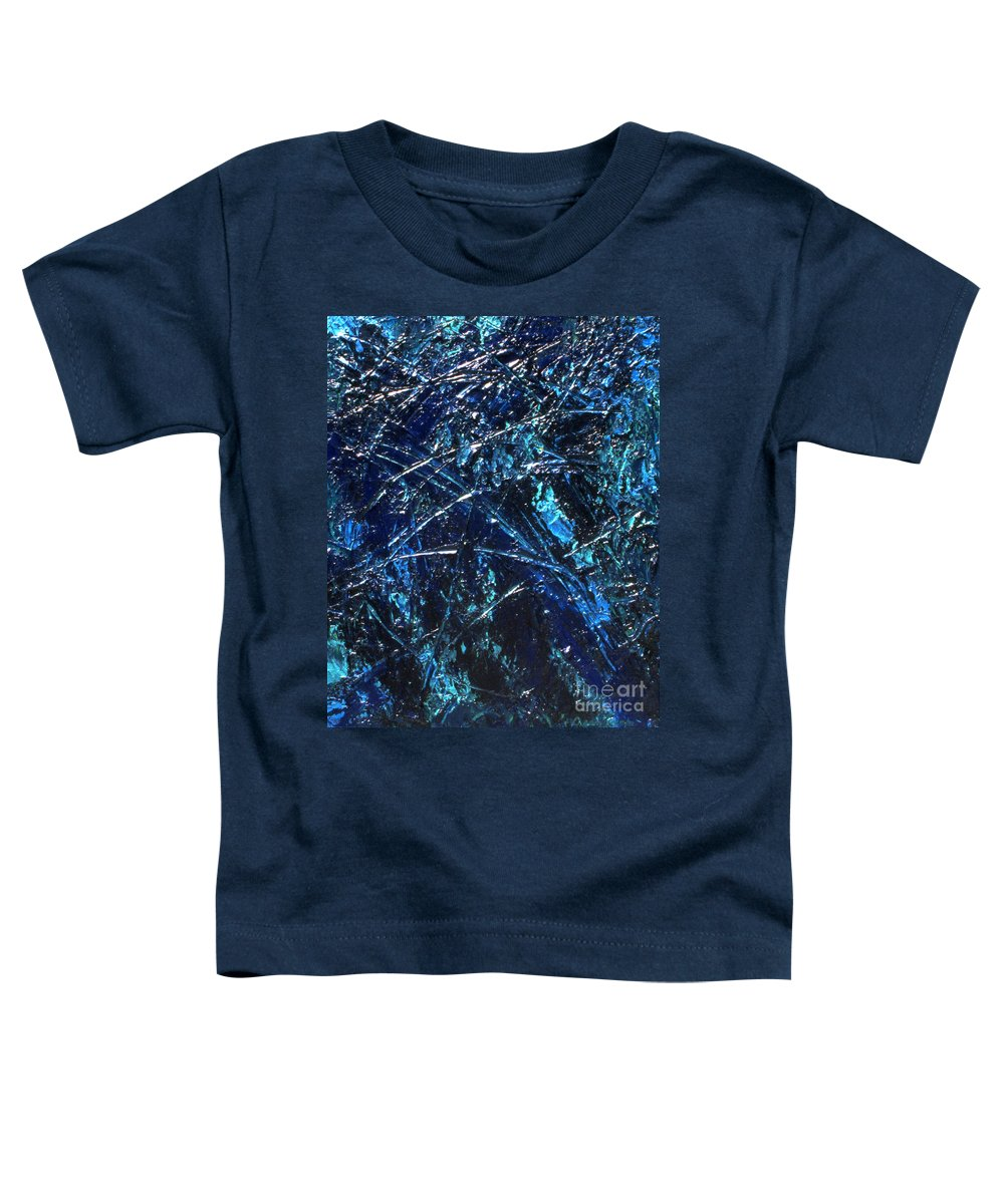 Abstract Toddler T-Shirt featuring the painting Transitions I by Dean Triolo